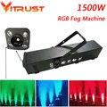 1500 W RGB niebla 3 en 1 LED generador de humo etapa efecto de humo DJ equipo de iluminación efectos de luz AC110-240V