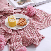 New Nordic Style Pure Cotton Knitted Warm Shawl Blanket Sofa Warm Blankets Summer Sweater Throws|cotton throw|throw blanket|throw sofa -