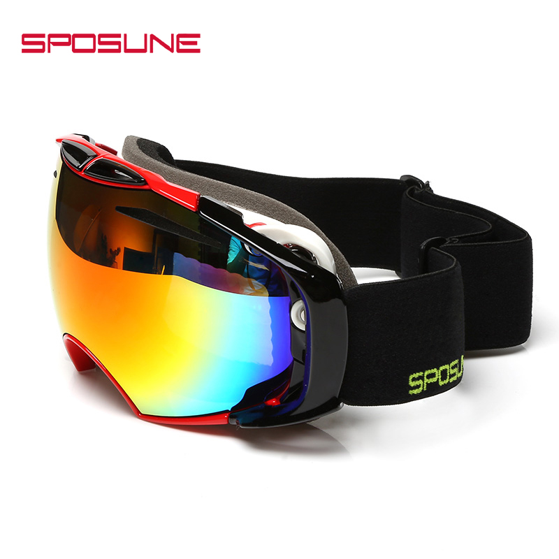 Winter Ski Goggles Snow Sports Snowmobile With Anti-fog UV Protection For Ski Glasses Skiing Snowboard Men Women Skiing Skating