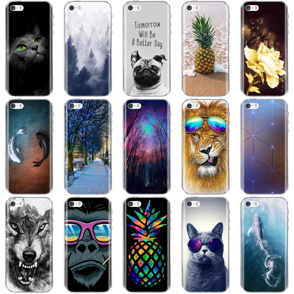 For iPhone 5 6 7 8 Case 3D Capa For on iPhone 5S 6s 6 7 8 Case Silicon Cover For iPhone SE Case For iPhone 5 5S SE 6 Phone Cases