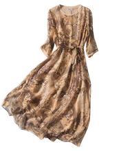 new arrival 100% silk female dress pure silk Small floral print dress pure silk  silk multicolor all-match slim double -b208