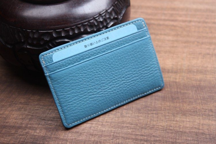 brand new c6bc1 df62f US $6.15 |man woman mini faux leather slim card holder lady pocket purse  credit cards wallet organizer pink/blue/black-in Card & ID Holders from ...
