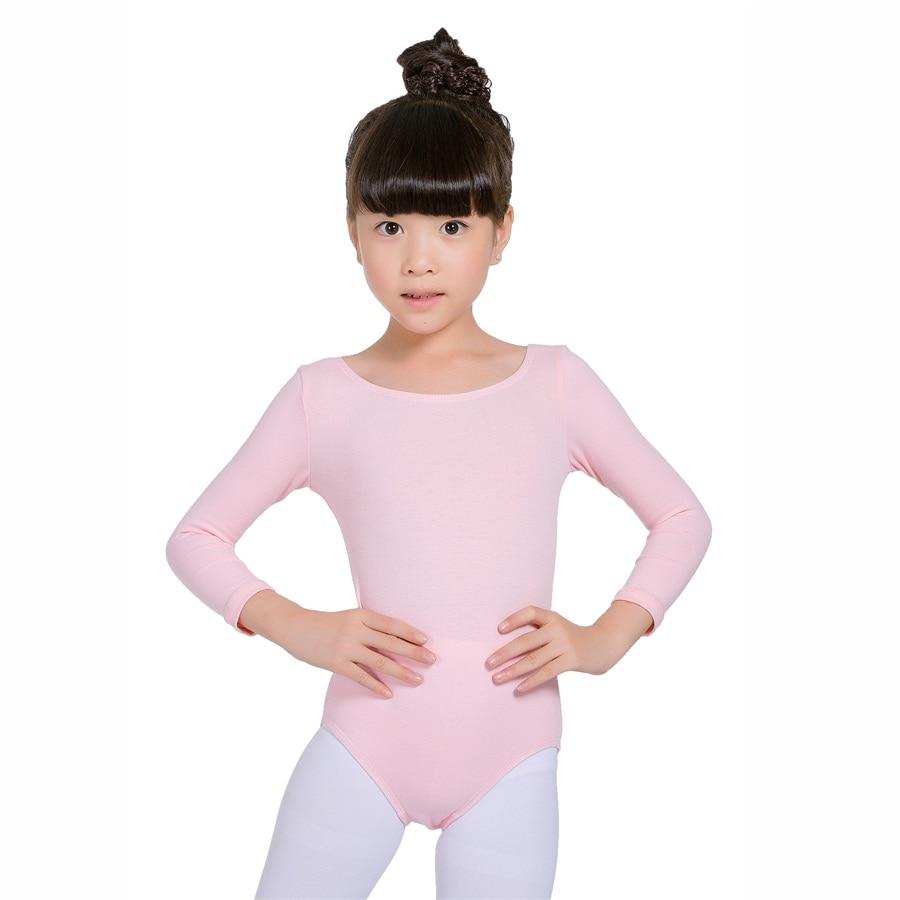 Ballet Dance Dress Girls Kids Gymnastics Long Sleeve Leotard Dancewear Costume