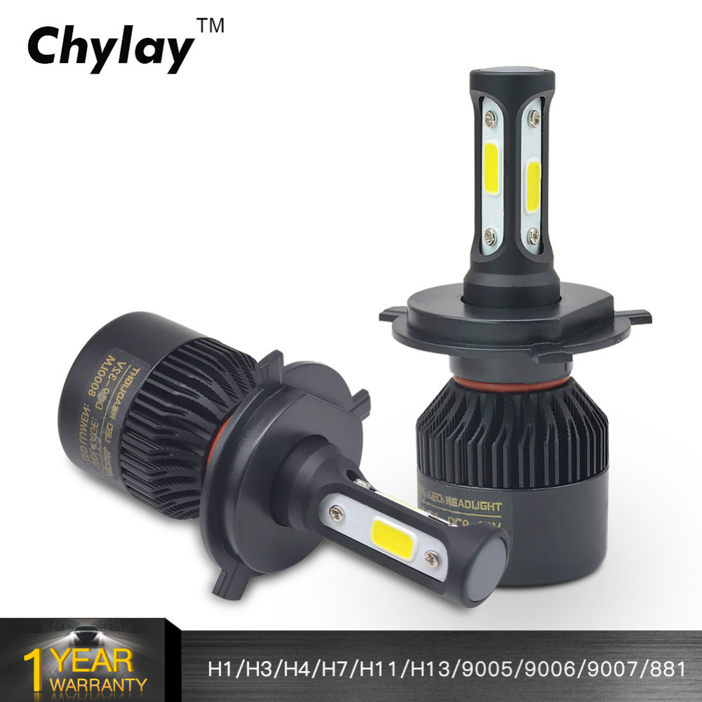 H7 Led H4 H1 H3 H11 H8 H9 H13 9005 9006 9007 881 LED Car Headlights 72W 8000LM Automobile HeadLamp Fog Light Bulb 6500k