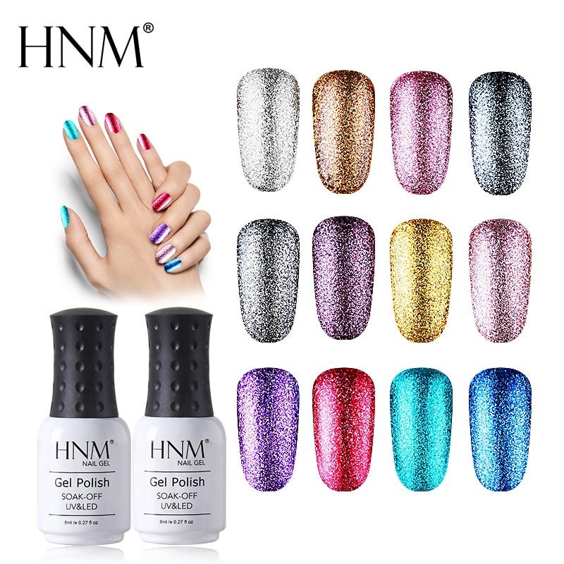 HNM блеск 8 мл УФ гель лак для ногтей блестящая краска геллак Полупостоянный Гибридный лак Lucky лак Светодиодная лампа геллак Новинка