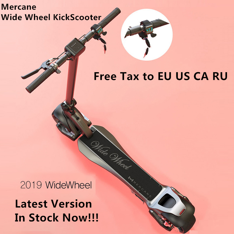 2019 nouveau Mercane WideWheel Scooter électrique intelligent pliable large roue 48 V 500 W Kickscooter deux roues double moteur planche à roulettes