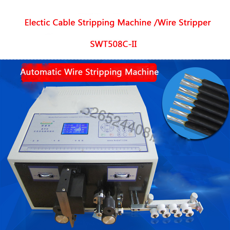 Automatic Computer Peeling Machine Wire Stripping Machine/ Electric Cable Stripping /Wire Stripper Pipe Cutter SWT508C-II