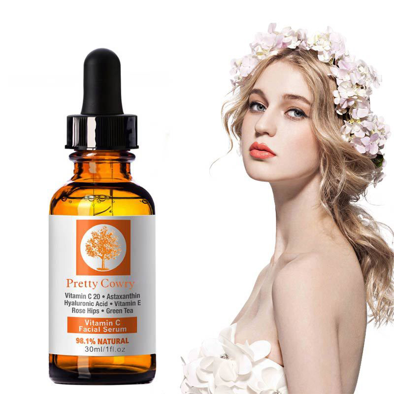 Anti-wrinkle Anti-aging Solve A Series of Skin Problems Vitamin C Essence Hyaluronic Acid Whitening Natural Face Serum TSLM1
