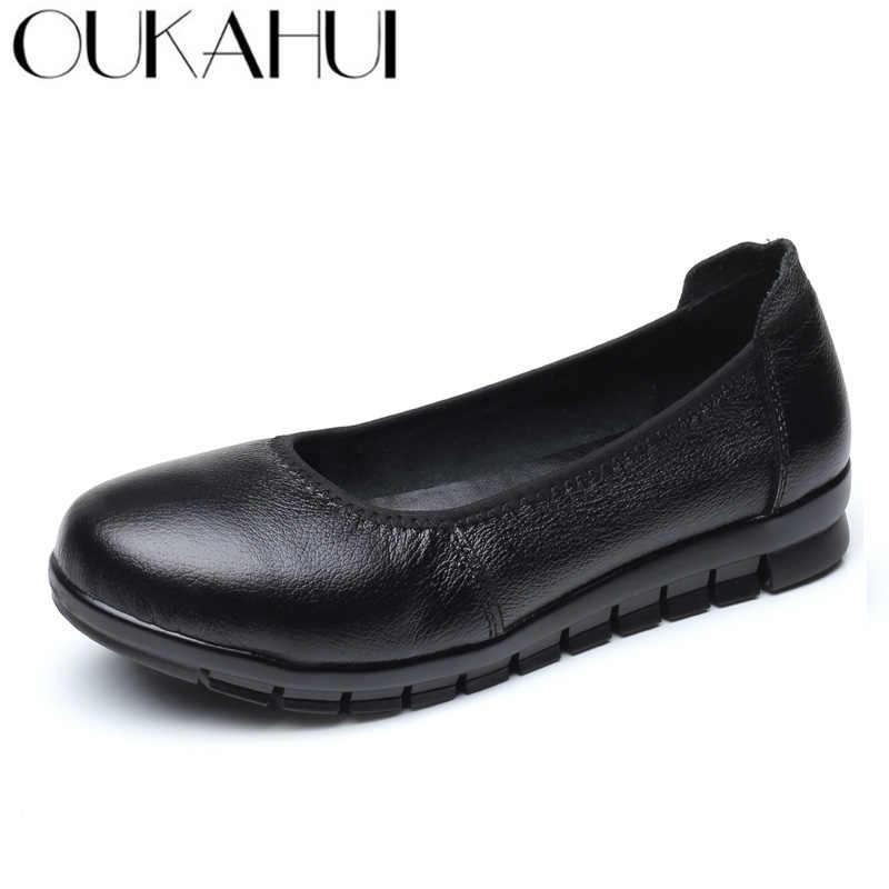 OUKAHUI Spring Simple Genuine Leather