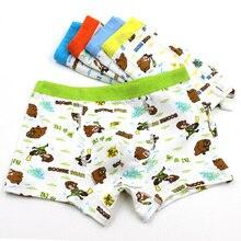 Llegó el nuevo Calcinhas Escritos Muchacho Envío Libre 5 unid Niños Boxer Shorts Pantalones Ropa Interior niños Bragas Oso estilo de venta directa
