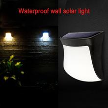 Bulb Solar Light Lawn Outdoor Solar Powered 3 LED Nightlight Wall Lamps White/Warm white Wall Light