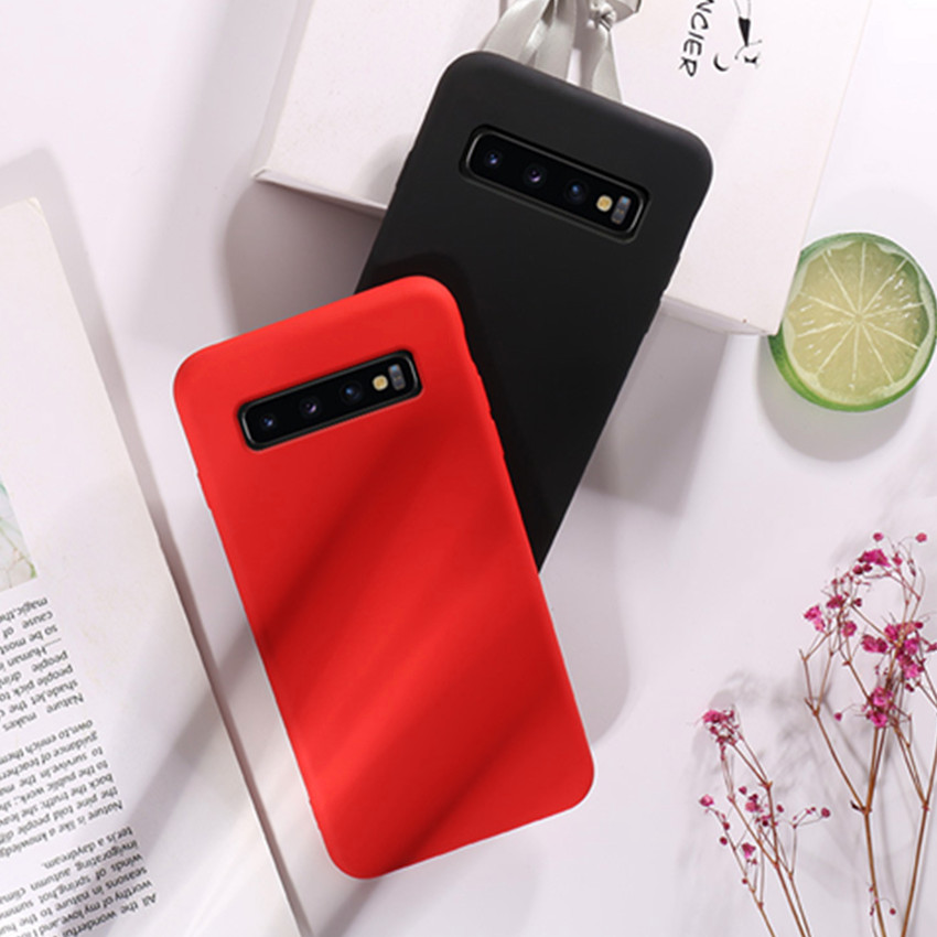 For Samsung Galaxy Note 9 Case Soft Liquid Silicone S8 S9 Plus Note 8 Protection Case Capa for Samsung S10 Plus S10 S10E cover in Fitted Cases from Cellphones Telecommunications