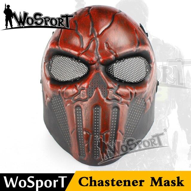 Wosport Airsoft Paintball En Acier Crane Fullface Masque Chastener
