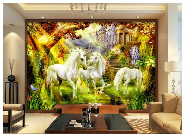 Custom 3d Wallpaper 3d Wall Murals Hd Dreamy Fairy Tale