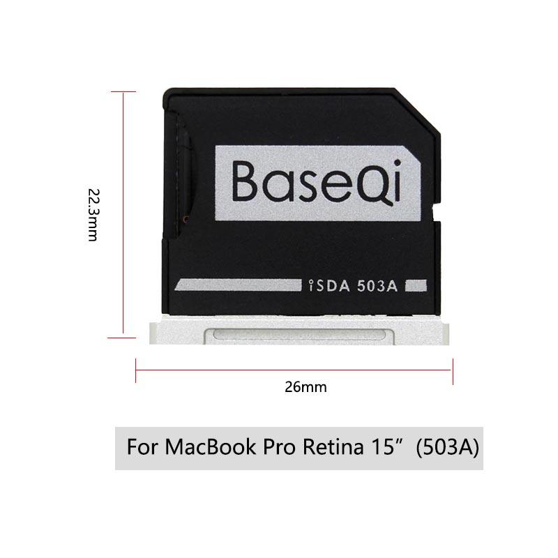 Image 2 - Original BaseQi Aluminum MiniDrive Micro SD Card Adapter Card Reader For Macbook Pro Retina15'' bilgisayar Memory Card Adapters-in Memory Card Adapters from Computer & Office