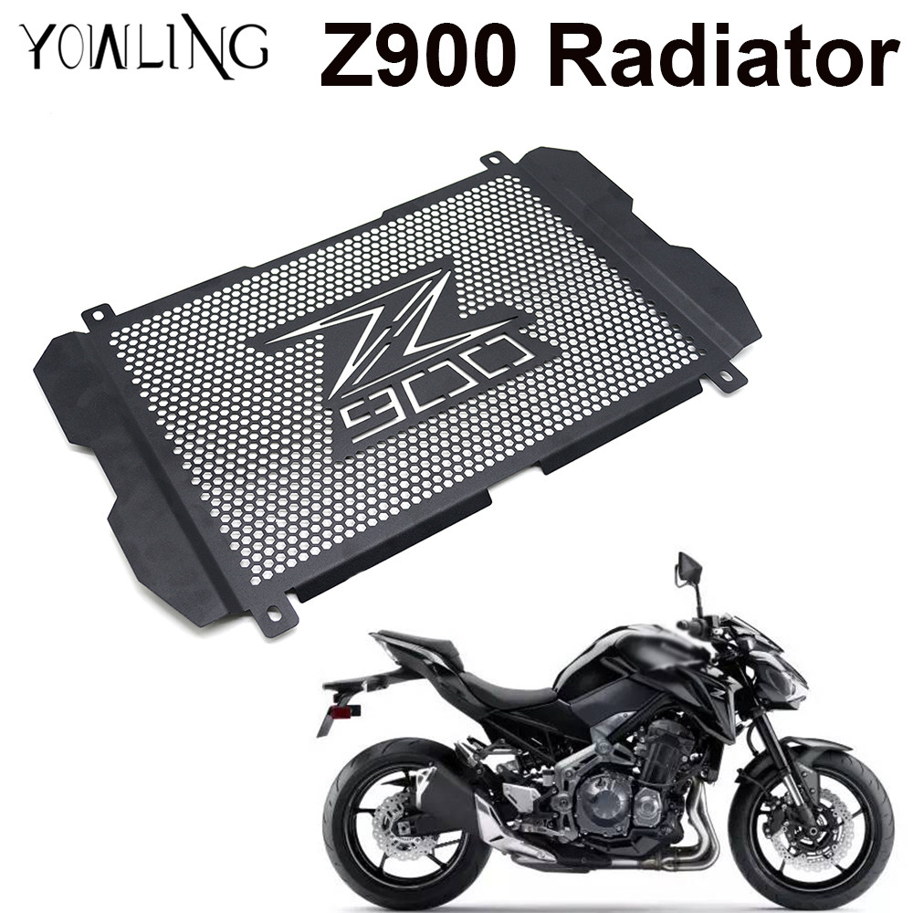 z900 LOGO Motorcycle Radiator Guard Stainless steel Cover Protector Guard Water cooled For Kawasaki z900 Z 900 2017 Motorbikes kemimoto radiator guard for kawasaki z900 2017 radiator grill protector for kawasaki z 900 2017 moto motocycle parts accessories