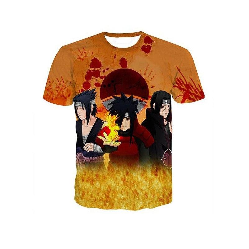 0f0137b36 ... Brand Clothing Men's T shirt Anime Naruto Uzumaki Naruto Sasuke 3D  Print Cartoon T-Shirt
