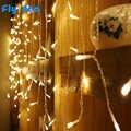 3.5 m led icicle luz string 220 v 110 v iluminação de natal feriado jardim guirlanda à prova dwaterproof água ano novo fada decoração ue/eua plug