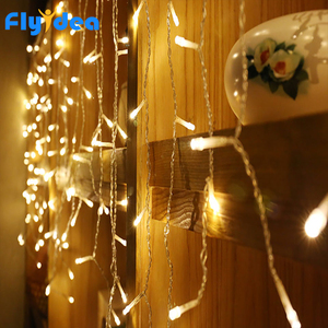 Image 1 - 3.5M LED icicle light string 220V 110V Christmas lighting holiday garden garland waterproof new year fairy decoration EU/US Plug