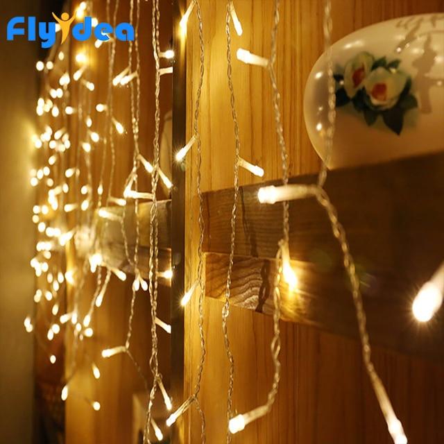 3.5M LED icicle light string 220V 110V Christmas lighting holiday garden garland waterproof new year fairy decoration EU/US Plug