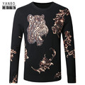 Chinese style tiger pattern soft and comfortable quality knit sweater 2016 Autumn&Winter new fashion boutique sweater men M-4XL