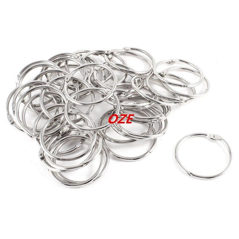 40 Pcs Staple Book Binder 38mm Innerer Diameter Loose Leaf Ring Keychain
