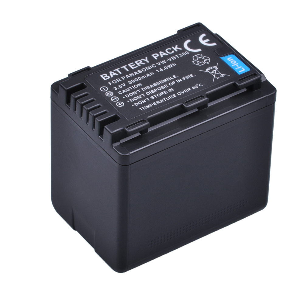 1x 3900mAh VW-VBT380 VBT380 VBT190 Battery For Panasonic HC-V110, HC-V130, HC-V160, HC-V180, HC-V201, HC-V250, HC-V260 Batteries