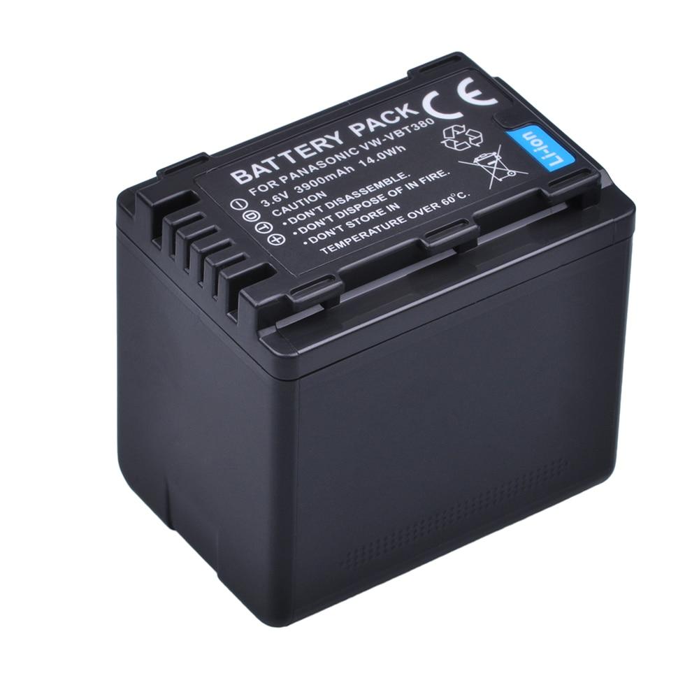 1x 3900mAh VW-VBT380 VBT380 VBT190 Battery for Panasonic HC-V110, HC-V130, HC-V160, HC-V180, HC-V201, HC-V250, HC-V260 Batteries1x 3900mAh VW-VBT380 VBT380 VBT190 Battery for Panasonic HC-V110, HC-V130, HC-V160, HC-V180, HC-V201, HC-V250, HC-V260 Batteries