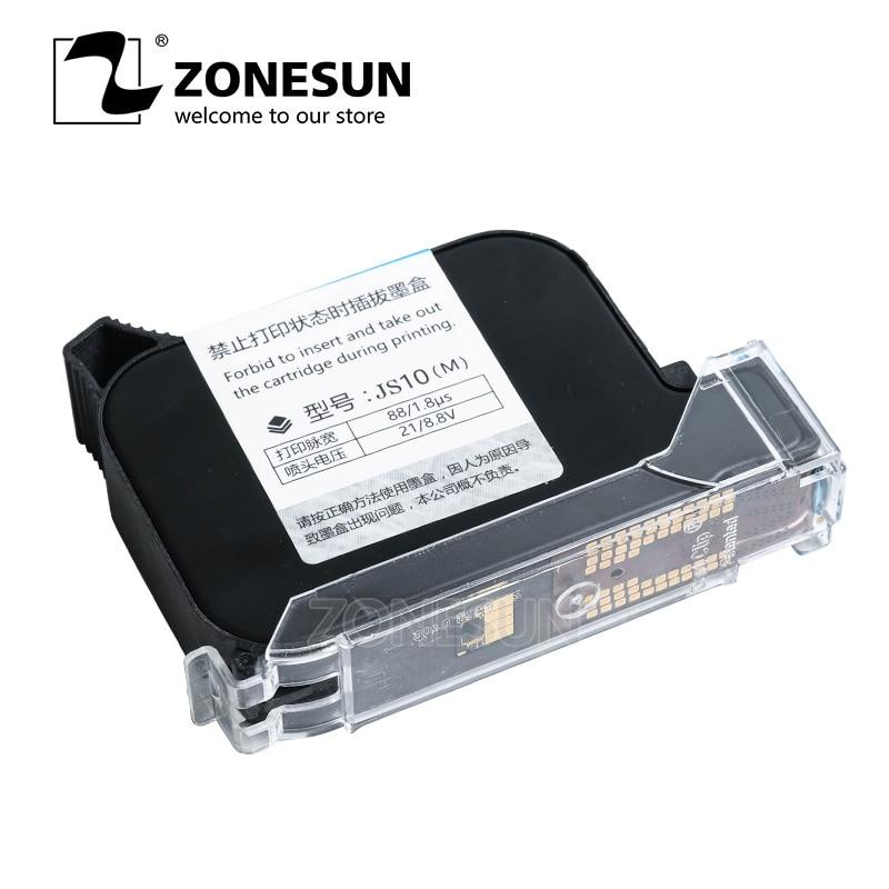 ZONESUN Caixa do Cartucho de Tinta Para A Tinta Da Impressora Para Handheld Inteligente USB QR CODE Impressora Jato de tinta Máquina de Codificação
