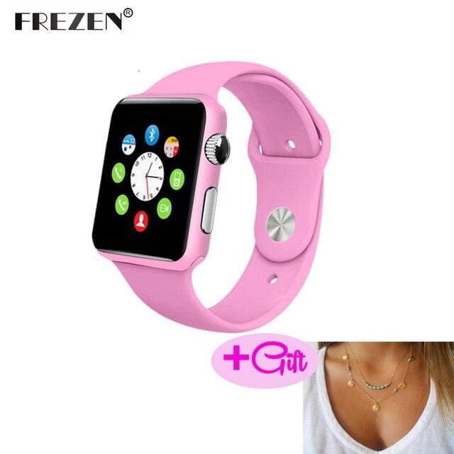 Frezen Смарт-часы G10A Краски розовый Bluetooth наручные часы для Для женщин взрослых ответ на вызов Reloj con sim-карты для Android pk GT08 DZ09