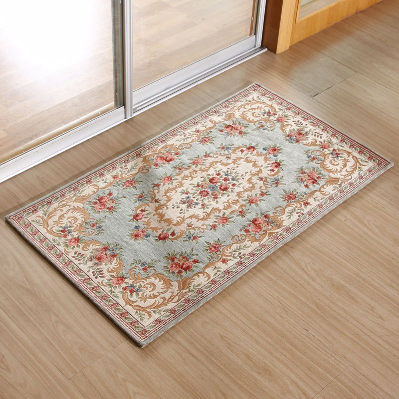 B 029 Light Blue 90x140cm Carpet Classic European Country