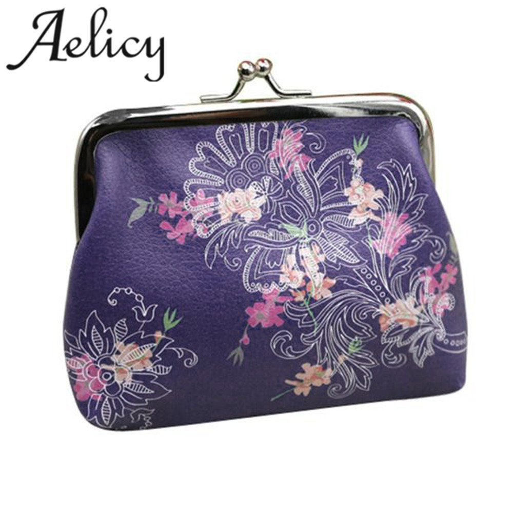 Aelicy bags for women 2018 Hot Girls Vintage Flower Small Wallet Hasp Purse Clutch Bag Holder Wallet