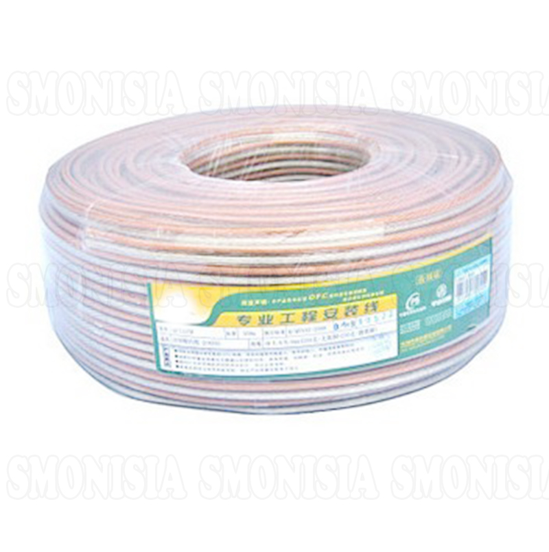2*300Pin 100M For Choseal QF-7118H Horn Wire 2*2.5 Square Pure Copper Audio Cable
