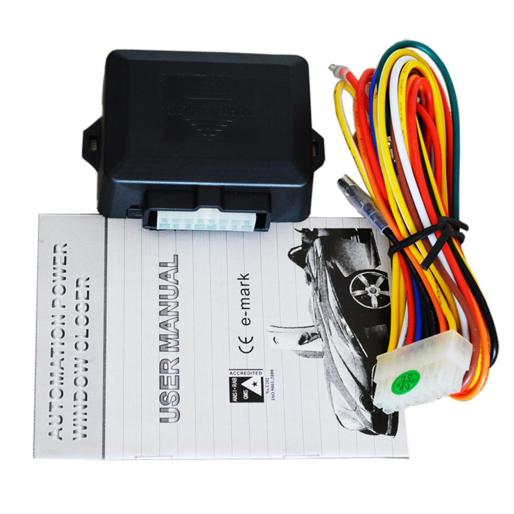 Universal car closer window module 4 doors closing window working with car alarm system positive or negative trigger option