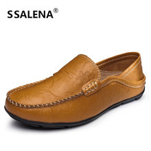 Mens Genuine Leather Dress Shoes Men Formal Business Oxfords Shoes Slip On Soft Casual Shoes Size 38-47 AA20563