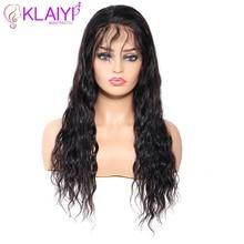 Klaiyi Natural Wave Human Hair Wigs 13X4 Pre Plucked
