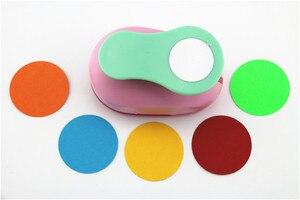 Image 3 - 3PCS (5 cm, 3.8 centimetri, 2.5 centimetri) forma rotonda craft punch set per bambini FAI DA TE manuale punzonatrici cortador de papel de scrapbook Cerchio pugno