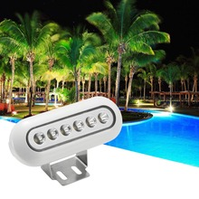 DC12V 12W IP68 Waterproof  Piscina LED Underwater Light Outdoor Lighting for Swimming Set of 2(CW WW W R G B RGB)