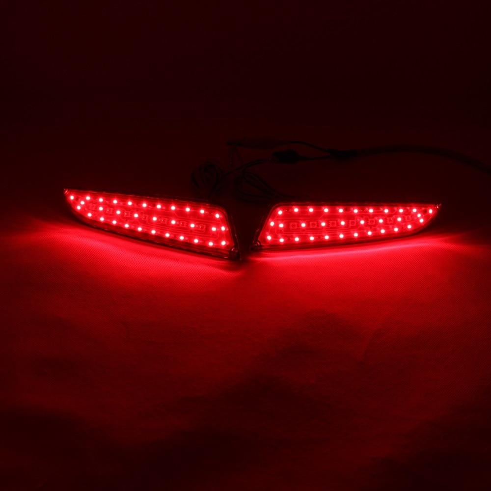 LED Rear Bumper Warning Lights Car Brake Light Running Lamps Turn Light For Buick Excelle One Pair