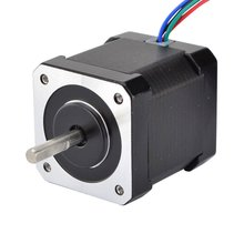 Nema 17 Stepper Motor Bipolar 2A 59Ncm(84oz.in) 48mm Body 4-lead W/ 1m Cable and Connector compatible with 3D Printer/CNC 3pcs 1 8 degree nema 34 stepper motor 86hs78 4208 with 8 wires 4 2a 3 15v 4 6n m cnc mill cut engraver 3d printer