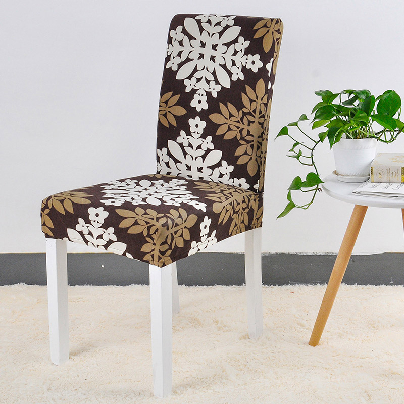 Black Spandex Chair Cover Stretch Geometry Kitchen Chair ...