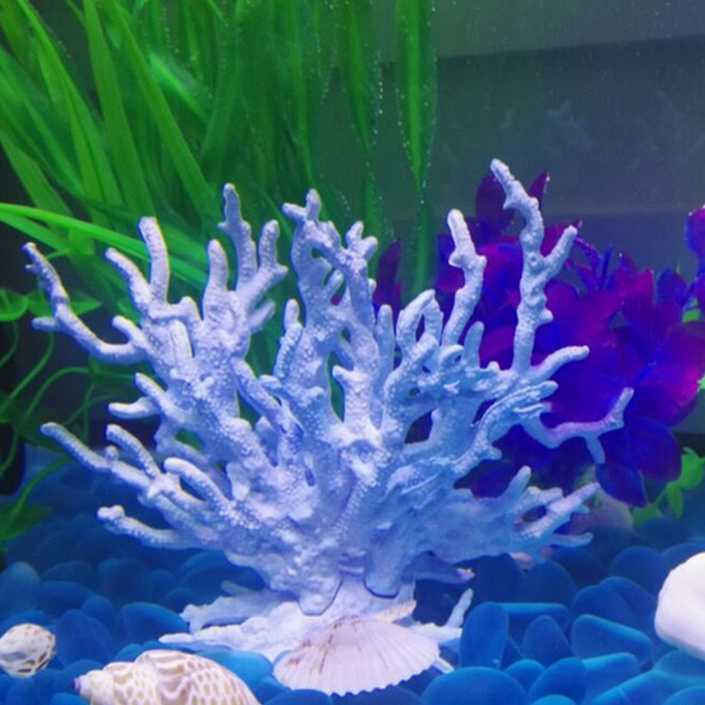 1pc Artificial Coral Blue Fish Tank Decor Floating Faux Sea Plant Ornament Aquarium Simulation Coral Reef Fish Home Decoration
