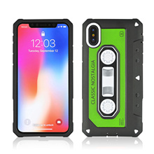 Shock Absorption Anti Skid TPU+PC Phone Case For iPhone X Proof