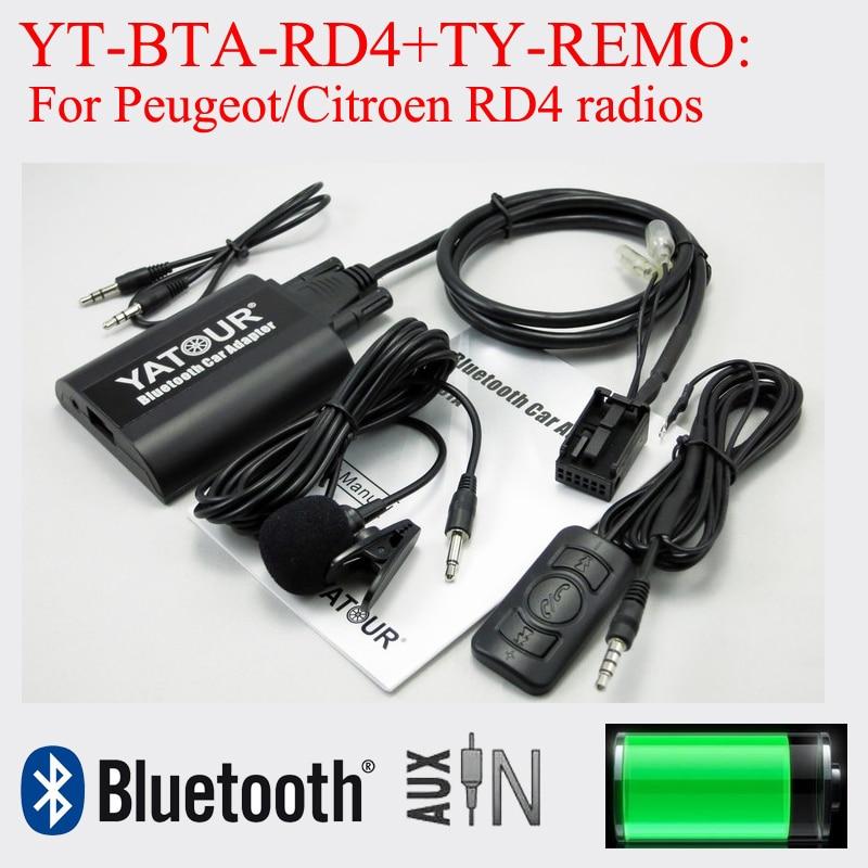 Yatour Bluetooth car radio music player for Peugeot Citroen RD4 radios цена 2017