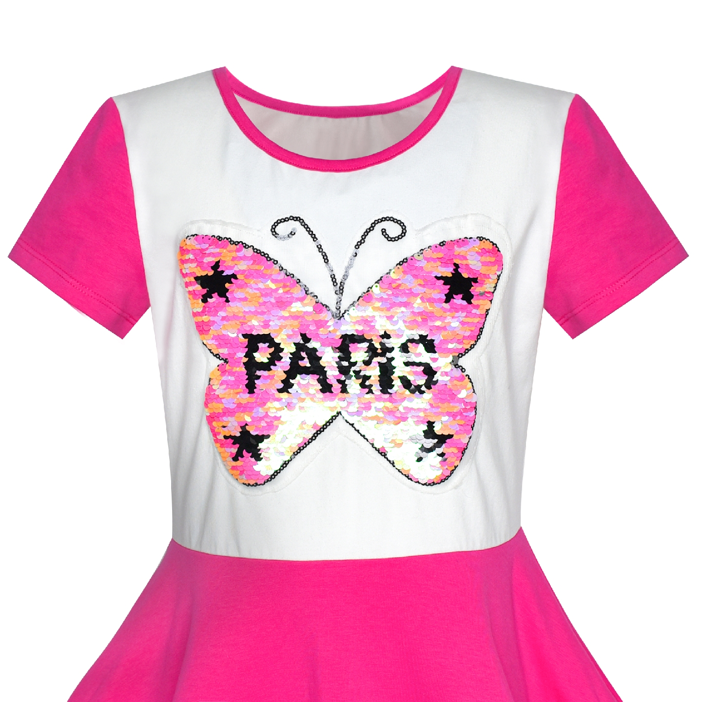 Girls Dress Owl Ice Cream Butterfly Sequin Everyday Dress Cotton ... fab43556bc69