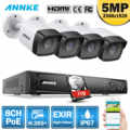 ANNKE 5MP H.265 + Super HD PoE Netzwerk Video Security System 4 stücke Wasserdichte Outdoor-POE IP Kameras Plug & spielen PoE Kamera Kit