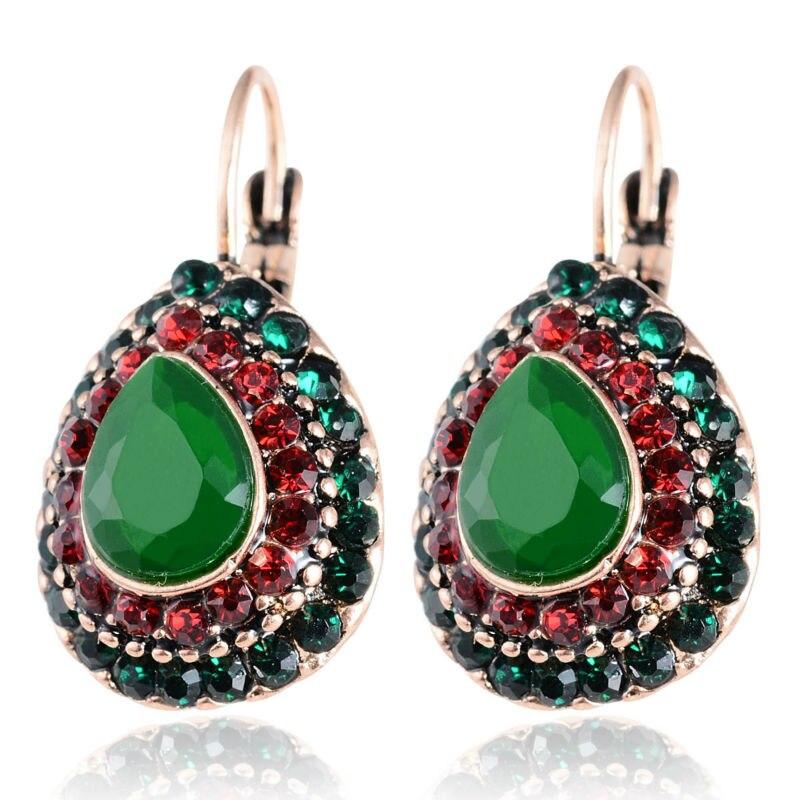 2016 New Women Vintage Ethnic Earrings Retro Style Colorful Bead ...