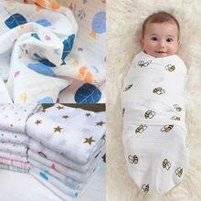 Новое милое детское Пеленальное Одеяло для младенцев хлопковый для новорожденных Пеленальное полотенце мягкое детское одеяло с принтом 120*120 см