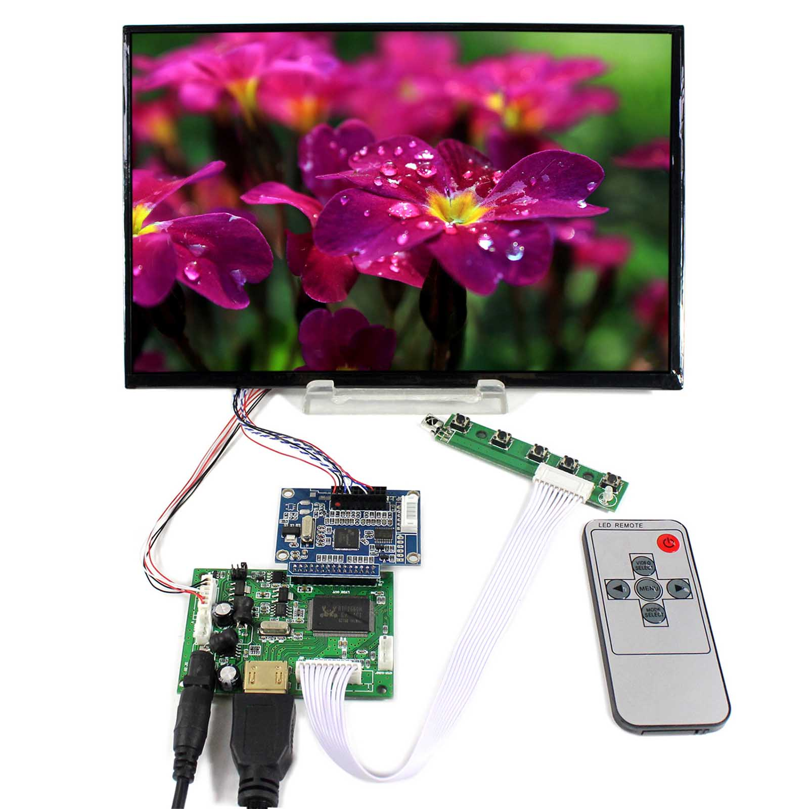 HDMI LCD Controller Board VS-TY2660H-V1 With 10.1inch 1920x1200 B101UAN01.A LCD Screen t400hw05 v1 xl xr 40t06 s00 40t06 s01 lcd pcb parts a pair