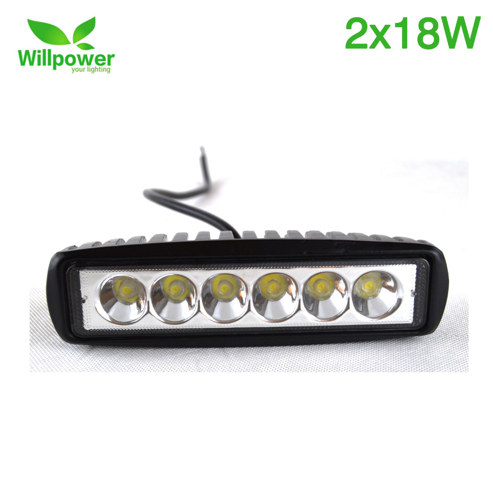 6 Volt Led Tractor Lights : Pack single row led driving light spot inch
